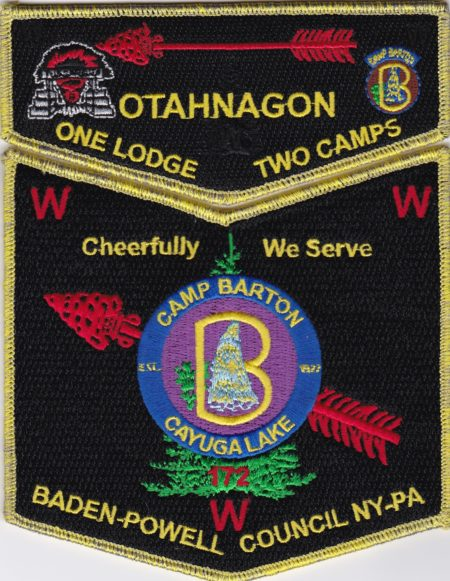 Otahnagon Lodge #172 One Lodge Two Camps - Barton GMY Set S40 X12