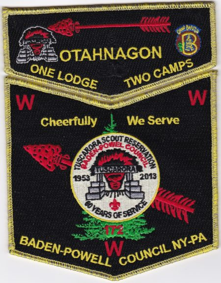 Otahnagon Lodge #172 One Lodge Two Camps - Tuscarora GMY Set S40 X13