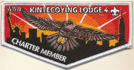 Kintecoying Lodge #4 Mis-bordered Charter Member Flap YS1