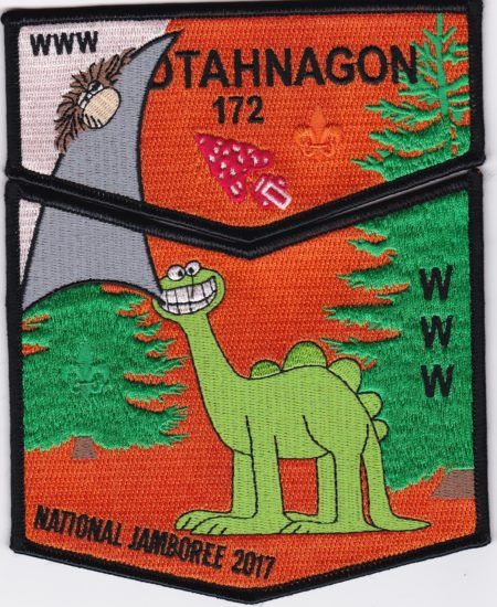 Otahnagon Lodge #172 2017 National Jamboree Black Border Set S42/X14