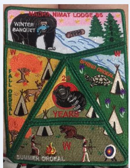 Nacha Nimat Lodge #86 20th Anniversary Set