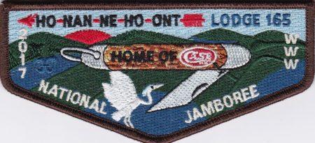 Ho-Nan-Ne-Ho-Ont Lodge #165 2017 National Jamboree Flap S43