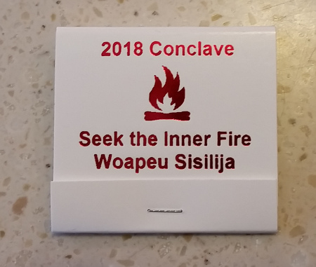 Section NE-4A 2018 Conclave Promotional Matchbook