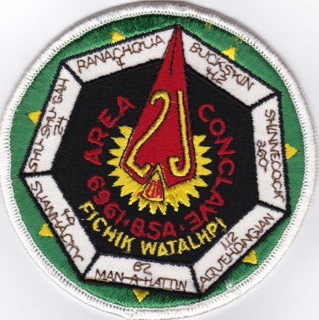Area 2-J 1969 Conclave Patch