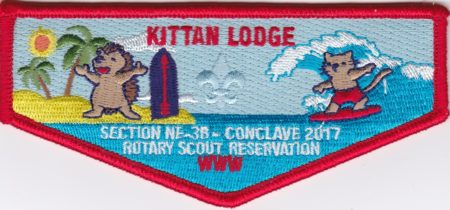 Kittan Lodge #364 2017 Section NE-3B Conclave Flap S41