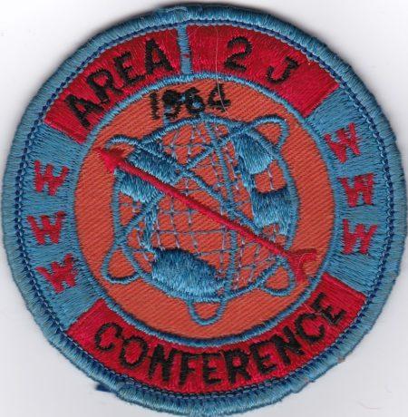 Area 2-J 1964 Conclave Pocket Patch