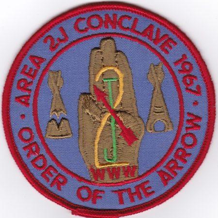 Area 2-J 1967 Conclave Pocket Patch