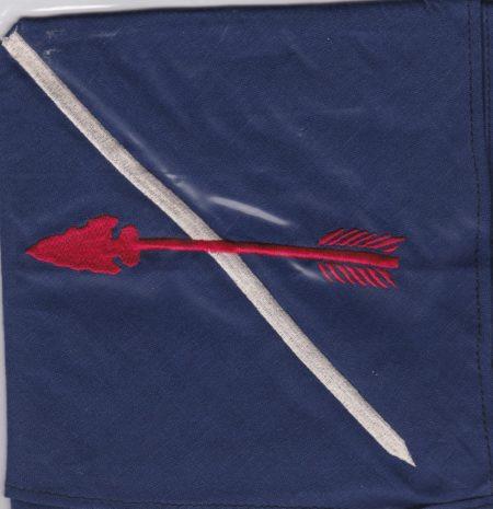 Buckskin Lodge #412 New Embroidered Neckerchief Arrow Left