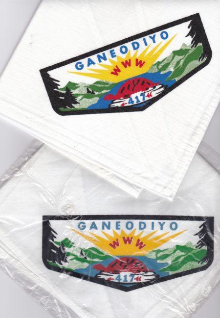 Ganeodiyo Lodge #417 N4a Neckerchief Variations