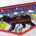 Nacha Nimat Lodge #86 2014 Banquet Flap eS2014