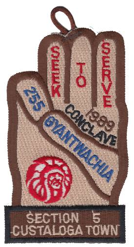 Section NE-5 1989 Conclave Pocket Patch with Loop