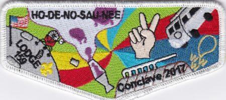 Ho-De-No-Sau-Nee Lodge #159 2017 Conclave Flap S72