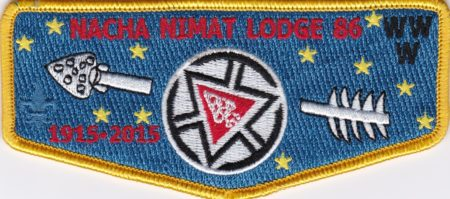 Nacha Nimat Lodge #86 Centennial Set Flap Red 1915-2015 S57