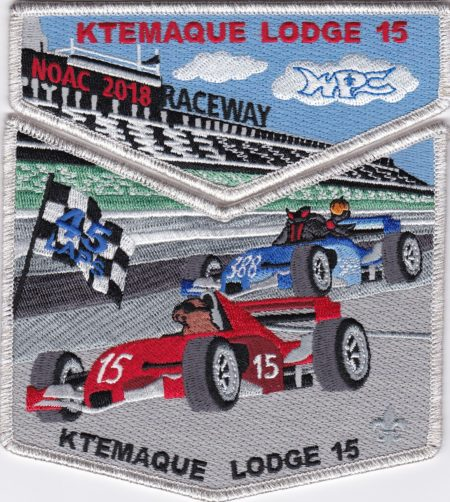 Ktemaque Lodge #15 2018 NOAC Delegate Set Silver Mylar Border S80 X47