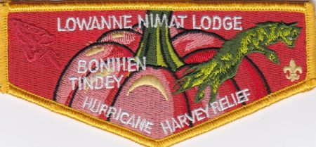 Lowanne Nimat Lodge #219 Hurricane Harvey Relief Flap S39