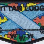 Kittan Lodge #364 Autism Awareness Flap S43