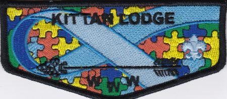 Kittan Lodge #364 Autism Awareness Flap S30