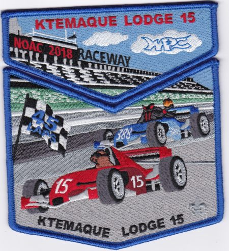 Ktemaque Lodge #15 2018 NOAC Trader Set Blue Border S79 X46