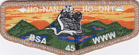 Ho-Nan-Ne-Ho-Ont Lodge #165 New 45th Anniversary Flap SMY S48