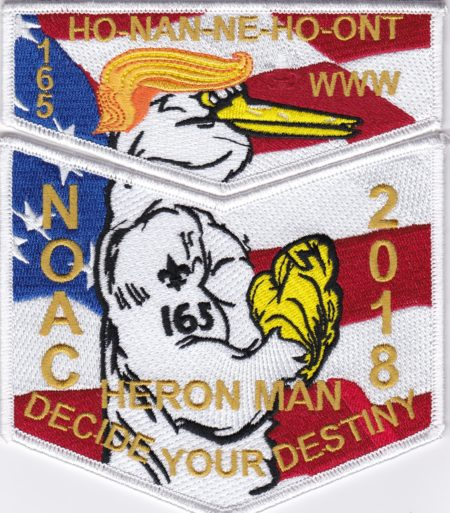 Ho-Nan-Ne-Ho-Ont Lodge #165 2018 NOAC Staff White Border Set S50 X21