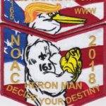 Ho-Nan-Ne-Ho-Ont Lodge #165 2018 NOAC Red Mylar Border Contingent Set S51 X22