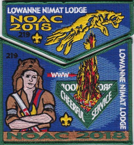 Lowanne Nimat Lodge #219 2018 NOAC Trader set S44 X25