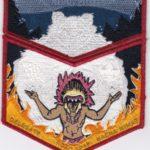 Nacha Nimat Lodge #86 2018 NOAC Set Red Mylar Border Orange Flames Set S59b/X39b