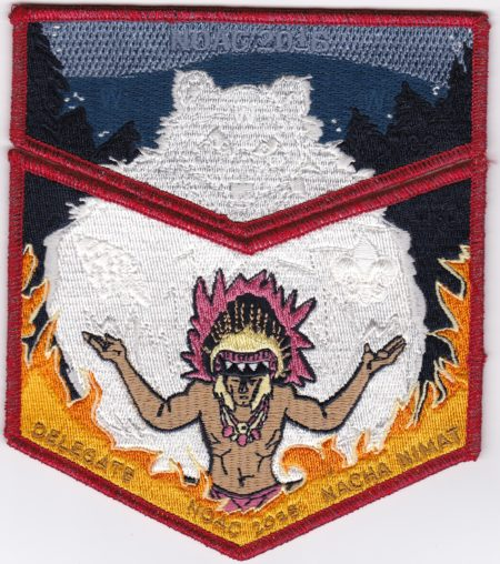 Nacha Nimat Lodge #86 2018 NOAC Set Red Mylar Border Orange Flames Set S59b/X39b