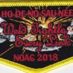 Ho-De-No-Sau-Nee Lodge #159 Section NE-3A 2018 NOAC Flap S75
