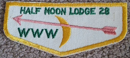 Half Moon Lodge #28 Pink Arrow Flap F1c
