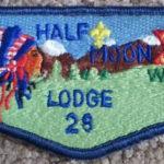 Half Moon Lodge #28 Dark Blue Service Flap S40b