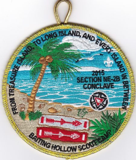Section NE-2B 2015 Centennial Conclave VIA Pocket Patch
