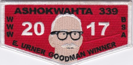 Ashokwahta Lodge #339 2017 E. Urner Goodman Winner White Border S27