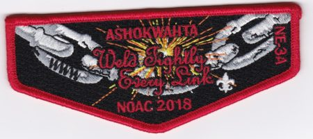 Ashokwahta Lodge #339 2018 NE-3A 2018 NOAC Red Border S30
