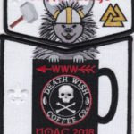 Kittan Lodge #364 2018 NOAC Death Wish Coffee Black Border Set S44 X26