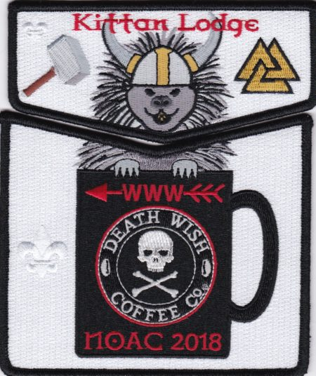 Kittan Lodge #364 2018 NOAC Death Wish Coffee Black Border Set