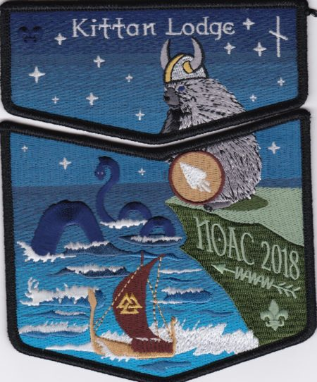 Kittan Lodge #364 2018 NOAC Midgard Serpent Black Border Set S47 X29