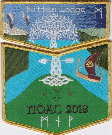Kittan Lodge #364 2018 NOAC Tree of Life GMY Border Set S49 X31