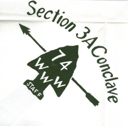 Section NE-3A 1974 Conclave Staff Neckerchief