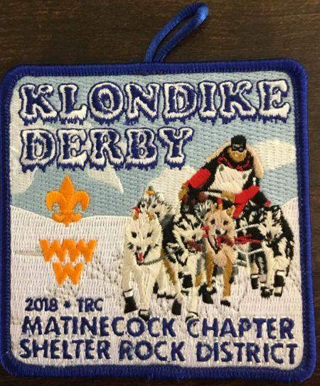 Buckskin Lodge #412 Matinecock Chapter 2018 Klondike Derby Patch eX2018-1