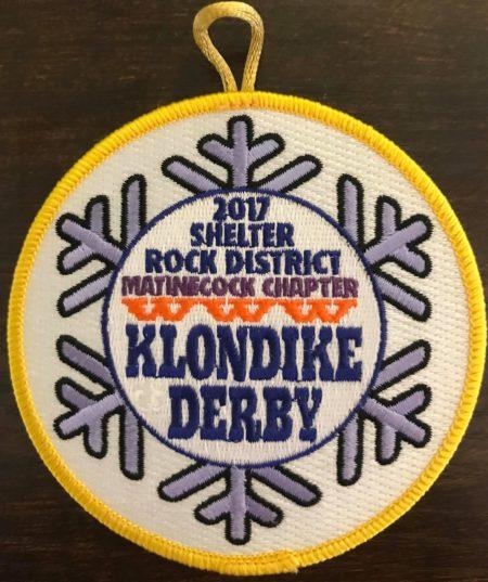 Buckskin Lodge #412 Matinecock Chapter 2017 Klondike Derby Patch eR2017-1