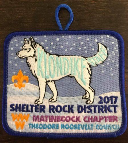Buckskin Lodge #412 Matinecock Chapter 2017 Klondike Derby Staff Patch eX2017-2