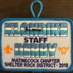 Buckskin Lodge #412 Matinecock Chapter 2018 Klondike Derby Staff Patch eX2018-2