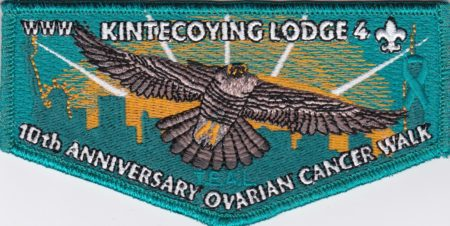 Kintecoying Lodge #4 10th Anniversary Ovarian Cancer Walk Flap S13