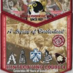 Kintecoying Lodge #4 Celebrating 90 Years of Scouting at TMR Set F1 X8Kintecoying Lodge #4 Celebrating 90 Years of Scouting at TMR Set F1 X8
