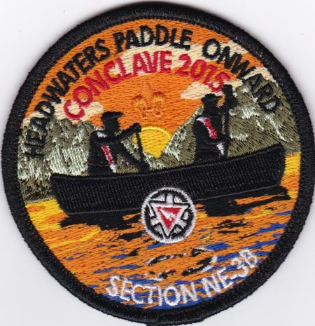 Section NE-3B 2015 Conclave Pocket Patch Black