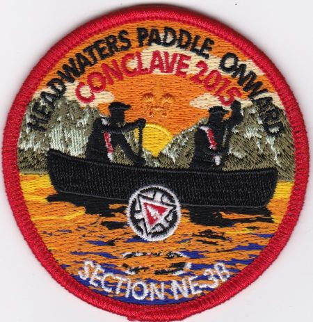Section NE-3B 2015 Conclave Red Pocket Patch