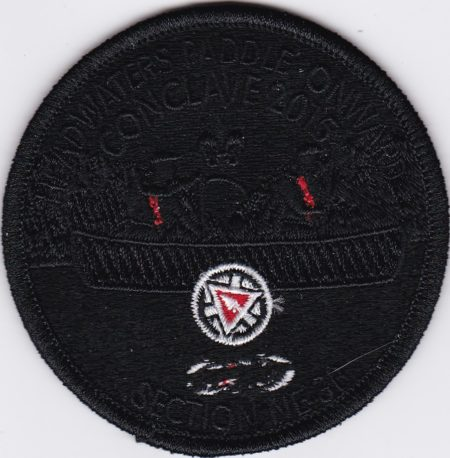 Section NE-3B 2015 Conclave Pocket Patch Black Ghost