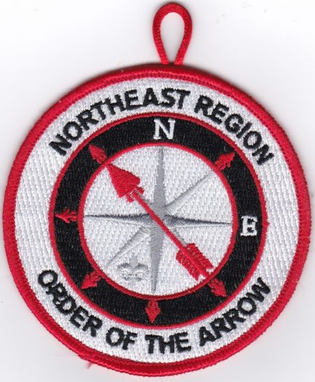 Northeast Region OA Red Bordered Pocket Patch