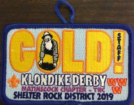Buckskin Lodge #412 Matinecock Chapter 2019 Klondike Derby Staff Patch eX2019-2